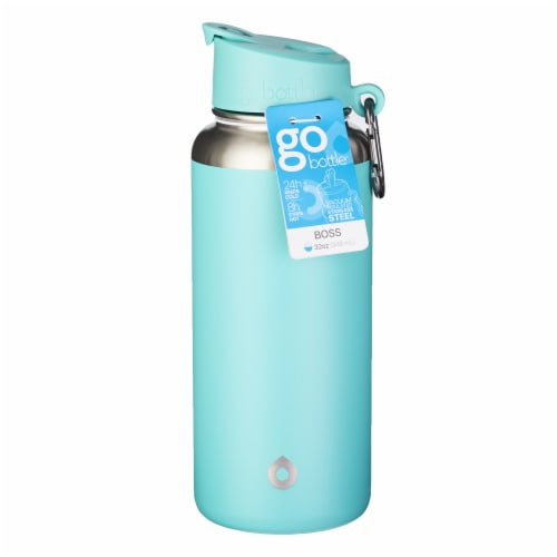 GoBottle Boss Water Bottle - Mint Perspective: front