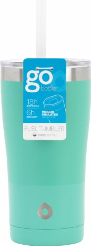 GoodCook® GoBottle Double Wall Thermal Tumbler - Teal Perspective: front