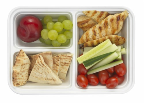 GoodCook® Meal Prep Food Storage Containers - White/Clear Perspective: front