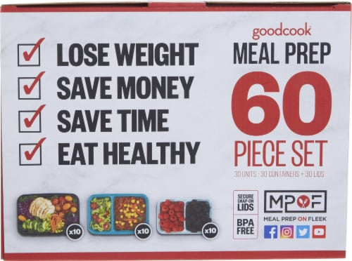 GoodCook® Meal Prep Set Perspective: front