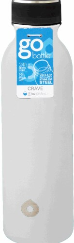 Crave Go Bottle - White Perspective: front