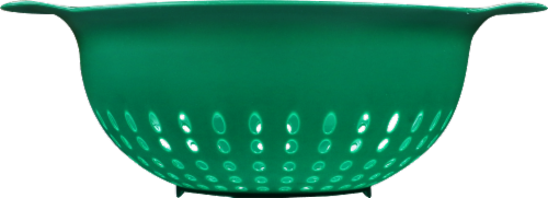 GoodCook® Plastic Colander - Green Perspective: front