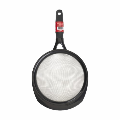 GoodCook® Touch Strainer - Black Perspective: front