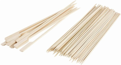 Profreshionals by GoodCook® Bamboo Seafood Skewer Combo - 40 Count - Natural Perspective: front