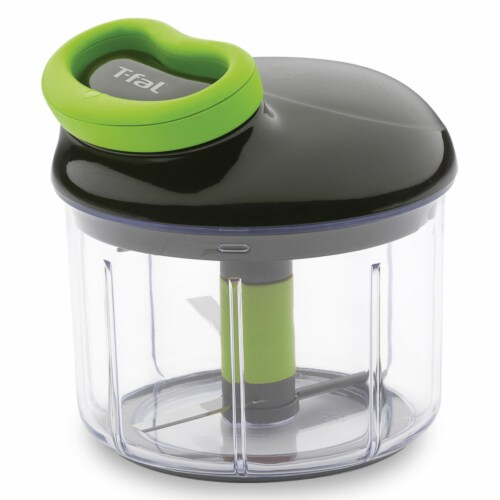 T-Fal 4 Cup Rapid Chopper Easy Hand Pull Manual Food Processor Vegetable Dicer Perspective: front