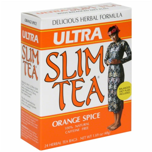Ultra Slim Tea Orange Spice Herbal Tea Bags Perspective: front