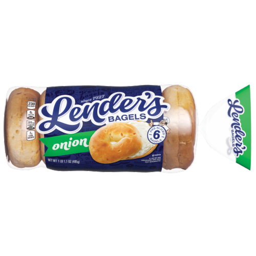 Lender's Onion Bagels 6 Count Perspective: front
