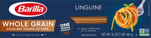 Barilla Whole Grain Linguine Pasta Perspective: front