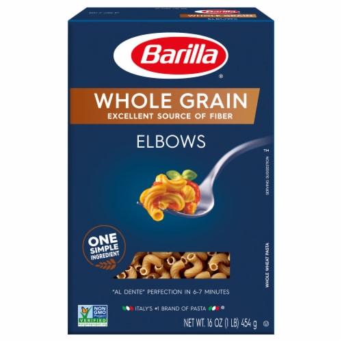 Barilla Whole Grain Elbows Pasta Perspective: front