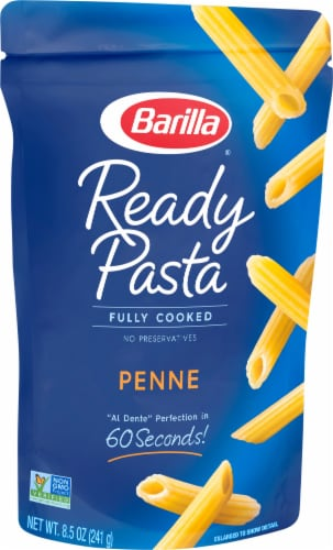 Barilla Ready Pasta Fully Cooked Penne Pasta Perspective: front