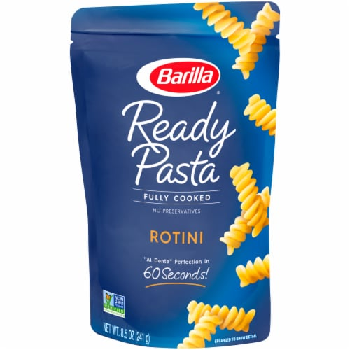 Barilla Ready Pasta Fully Cooked Rotini Pasta Perspective: front