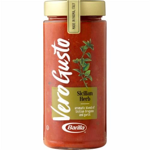 Barilla Vero Gusto Sicilian Herb Sauce Perspective: front