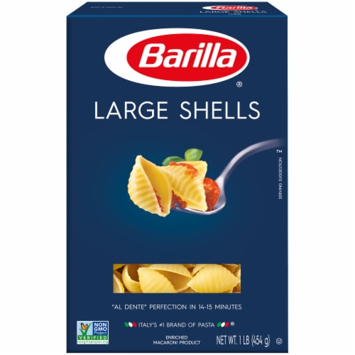 Barilla Large Shells Pasta Perspective: front