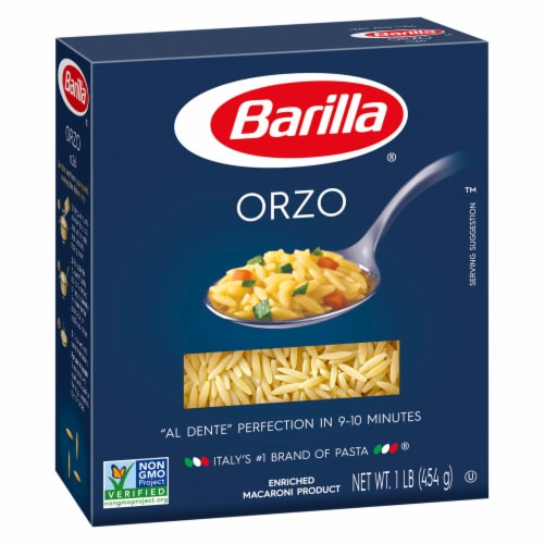 Barilla Orzo Pasta Perspective: front