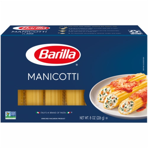 Barilla Manicotti Pasta Perspective: front