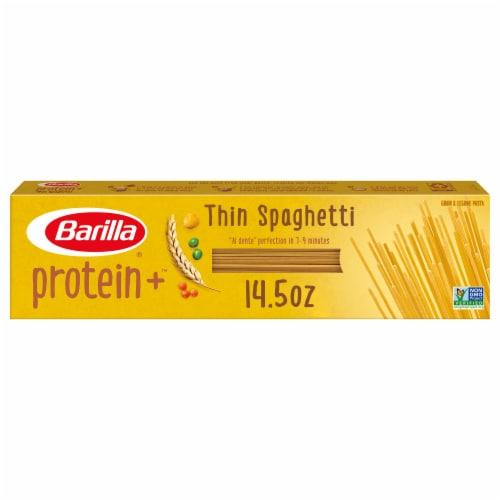 Barilla Protein+ Thin Spaghetti Grain & Legume Pasta Perspective: front