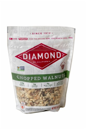 Diamond of California Chopped Walnuts Perspective: front