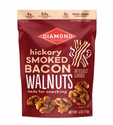Diamond of California Hickory Smoked Bacon Walnuts Perspective: front
