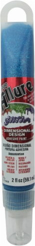 Eclectic E6000 Allure Glitter Dimensional Design Adhesive Paint - Aquamarine - 2 Ounce Perspective: front