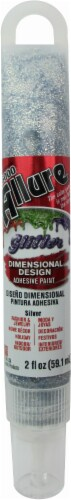 Eclectic Allure Glitter Dimensional Design Adhesive Paint - Silver Perspective: front