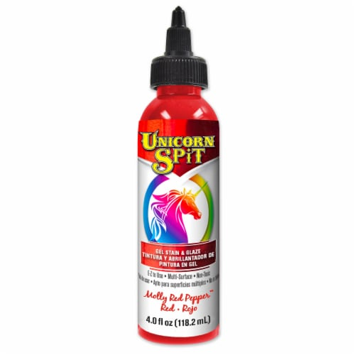 Unicorn SPiT Molly Red Pepper Gel Stain & Glaze - Red Perspective: front