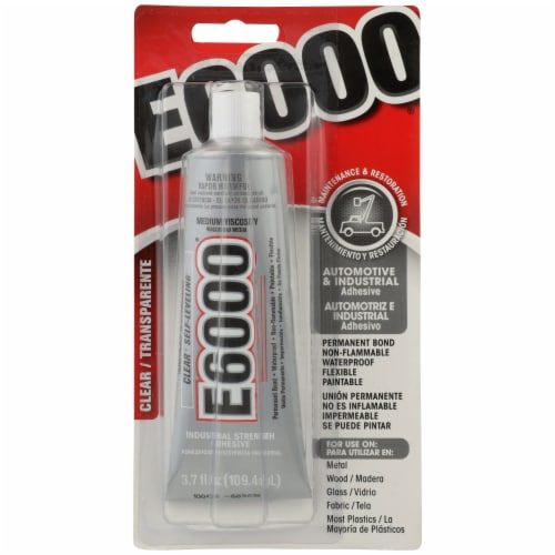 E6000 Automotive & Industrial Adhesive - Clear Perspective: front