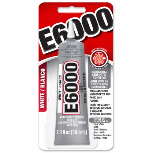 E6000 Industrial Strength Adhesive - White Perspective: front