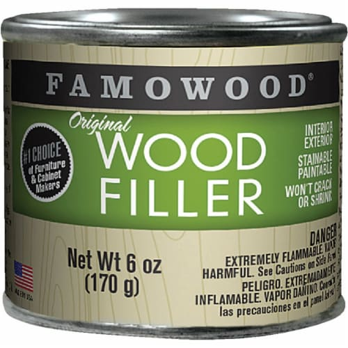 Famowood  Oak/Teak  Wood Filler  6 oz. - Case Of: 1; Perspective: front