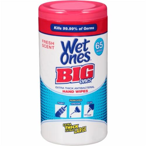 Wet Ones Big Ones Fresh Scent Antibacterial Hand Wipes Perspective: front