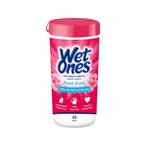 Wet Ones Fresh Scent Antibacterial Hand Wipes Perspective: front