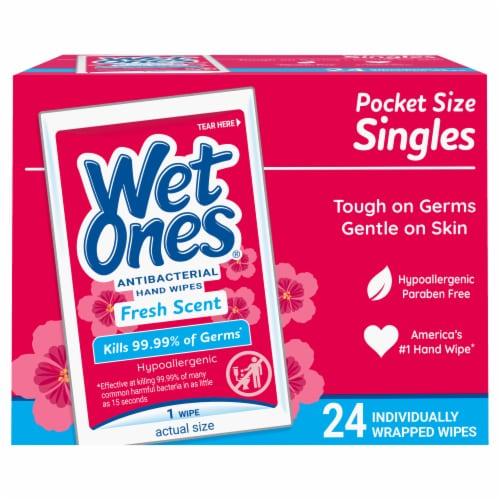 Wet Ones Antibacterial Singles Perspective: front