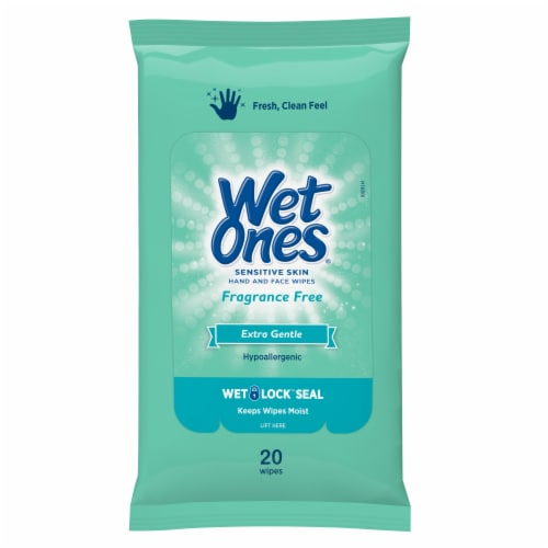 Wet Ones Extra Sensitive Travel Pack Wipes Perspective: front