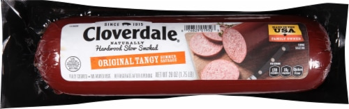 Cloverdale Original Tangy Summer Sausage Perspective: front