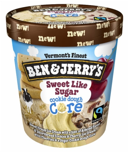 Ben & Jerry's Sweet Like Sugar Cookie Dough Core Ice Cream Perspective: front