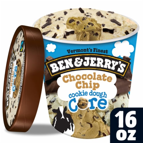 Ben & Jerry's Chocolate Chip Cookie Dough Core Ice Cream Perspective: front