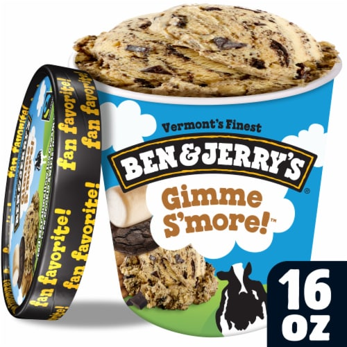 Ben & Jerry's Gimme S'More Ice Cream Perspective: front