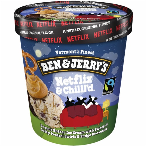 Ben & Jerry's Netflix & Chilll'd Ice Cream Perspective: front