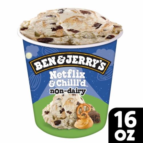 Ben & Jerry's Vegan Netflix & Chilll'd Non-Dairy Frozen Dessert Perspective: front