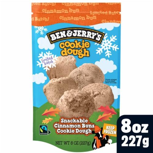 Ben & Jerry's® Cinnamon Bun Dough Chunks Snackable Dough Perspective: front