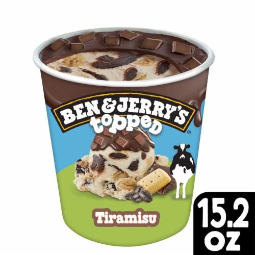 Ben & Jerry's Topped Tiramisu Ice Cream Perspective: front