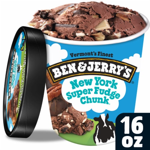 Ben & Jerry's New York Super Fudge Chunk Ice Cream Perspective: front