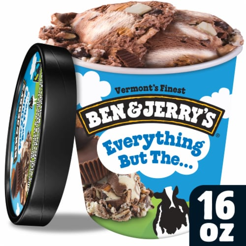 Ben & Jerry's Everything But The... Ice Cream Perspective: front