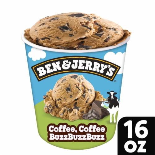 Ben & Jerry's Coffee Coffee BuzzBuzzBuzz Ice Cream Perspective: front