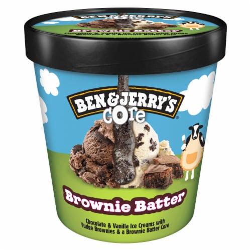 Ben & Jerry's Brownie Batter Core Ice Cream Perspective: front