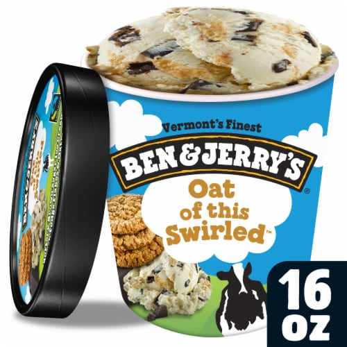 Ben & Jerry's Oat of this Swirled Ice Cream Perspective: front