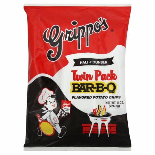 Grippo's Bar-B-Q Twin Pack Chips Perspective: front