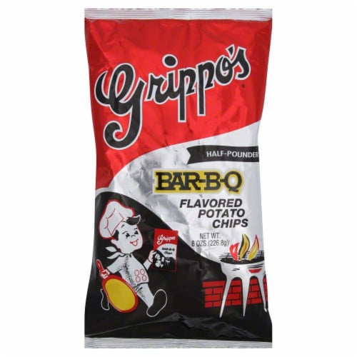 Grippo's Bar-B-Q Flavored Potato Chips Perspective: front