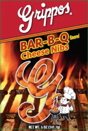 Grippos Bar-B-Q Flavored Cheese Nibs Perspective: front