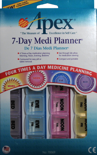Apex 7-Day Medi Planner Perspective: front