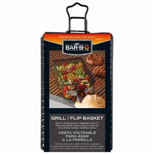 Mr. Bar-B-Q Deluxe Non-Stick Grill & Flip Basket Perspective: front